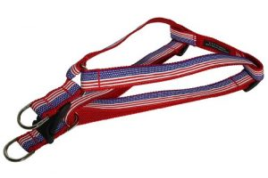 Sassy Dog Wear 18-24-Inch American Flag Dog Harness, Medium