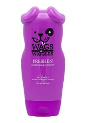 Wags & Wiggles Freshen Deodorizing Dog Shampoo in Very Berry | Dog Grooming Shampoo For Smelly Dogs, 16 Ounces