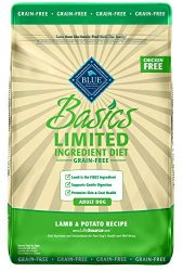 Blue Buffalo Basics Limited Ingredient Diet, Grain Free Natural Adult Dry Dog Food, Lamb & Potato 22-lb