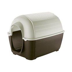Ferplast Kenny 01 Dog House, Anti-Shock and U.V. Rays Resistant Plastic, Vent/Drain System