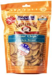 Smokehouse 100-Percent Natural Prime Chips Chicken Dog Treats, 8-Ounce