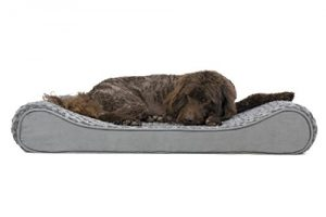FurHaven Pet Dog Bed | Orthopedic Ultra Plush Luxe Lounger Pet Bed for Dogs & Cats, Gray, Large