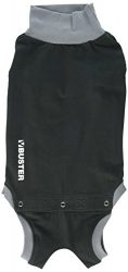 Kruuse Buster Body Suit for Dogs, Black/Grey, 18″/Size Small