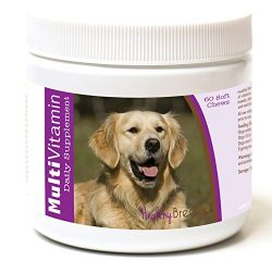 Healthy Breeds Dog Daily Vitamins Soft Chews For Golden Retriever – Over 200 Breeds – For Small Medium & Large Breeds – Easier Than Liquid Or Powders – 60 Chews