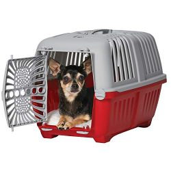 Midwest Spree Travel Pet Carrier | Hard-Sided Pet Kennel Ideal for Toy Dog Breeds, Small Cats & Small Animals | Dog Carrier Measures 19.1L x 12.5 W x 13H – Inches | Great for Short Trips to The Vet