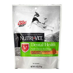 Nutri-Vet Dental Health Soft Chews for Dogs, 6 Ounce