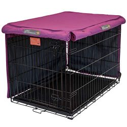 Pet Progressions by K&H 36 Inch Dog Crate Cover, Navy – Tear Resistant Dog Kennel Covers