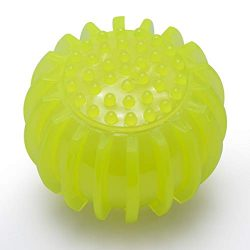 Petper CW-0049 Dog Ball Toy, Squeaky Play Ball Pet Toy, Yellow