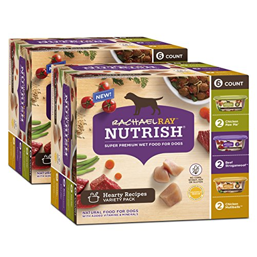 Rachael Ray Nutrish Hearty Recipes Variety Pack Wet Dog Food, 12 Tubs