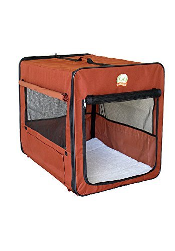 Go Pet Club AB25 Soft Dog Crate, Brown – 25 in.