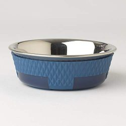 PetRageous Kona Non-Skid Stainless-Steel Bowl, Blue, 1.75 Cup/5.5″