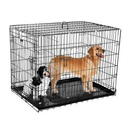 2202 Pet Trex Premium 36″ Folding Pet Crate Kennel Wire Cage for Dogs Cats or Rabbits