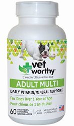 Vet Worthy Adult Multi Vitamin Liver Flavored Chewables for Dogs (60 Count)