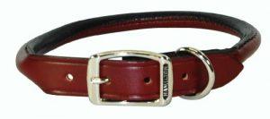 Hamilton 1/2″ x 16″ Burgundy Rolled Leather Dog Collar