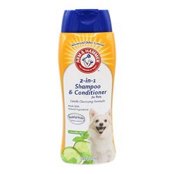 Arm & Hammer 2-In-1 Shampoo & Conditioner for Dogs | Dog Shampoo & Conditioner in One | Cucumber Mint, 20 Ounces