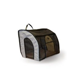 K&H Pet Products Travel Safety Pet Carrier Small Gray 17″ x 16″ x 15″