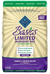 Blue Buffalo Basics Limited Ingredient Diet, Grain Free Natural Adult Dry Dog Food, Turkey & Potato 11-lb