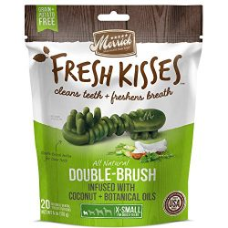 Merrick Fresh Kisses Coconut Oil + Botanicals Extra Small Brush – Small Bag (20 Ct)