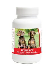 Healthy Breeds Multivitamin for Puppy for Doberman Pinscher – Over 100 Breeds – Veterinarian Formulated Daily Dietary Supplement – Liver Flavored Treats – 60 Chews