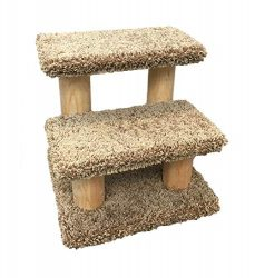 New Cat Condos 110247-Brown Solid Wood Pet Stairs, Brown
