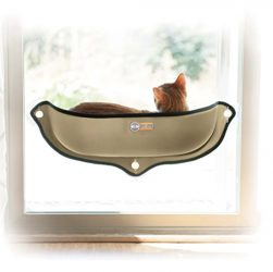 K&H Pet Products EZ Mount Window Bed Kitty Sill, Tan