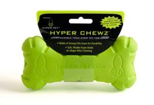 Hyper Pet Chewz Dog Toys For Small and Large Dogs (Green Bone) [Lightweight, Resilient EVA Foam Dog Toy is Safe on Teeth, Easy to Clean, & Floats on Water for Interactive Play]