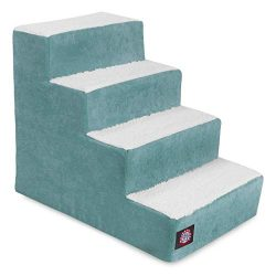 Majestic Pet Portable Pet Stairs | Soft Sherpa Steps Foam Feeling | Steps for Dogs & Cats | Dog & Cat Ramp | Perfect for Bed & Sofa | Indoor Only | Max Weight: up to 250 Lbs