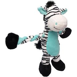 Charming Pet Pulleez Zebra Plush Squeaky Dog Toy