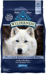 Blue Buffalo Wilderness High Protein Grain Free, Natural Senior Dry Dog Food, Chicken 4.5-lb
