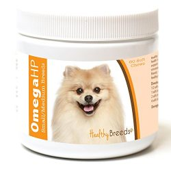 Healthy Breeds Omega 3 for Dogs for Pomeranian – Over 100 Breeds – EPA & DHA Fatty Acids – Small & Medium Breed Formula – 60 Count