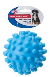 Ethical 5-Inch Vinyl Giant Squeaky Ball Dog Toy, Colors May Vary