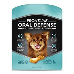 FRONTLINE Oral Defense Daily Dental Chews for X-Small Dogs (5-10 pounds) 28-Ct