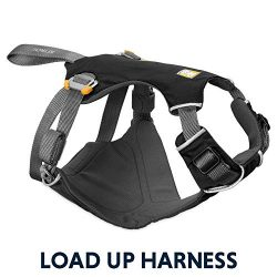 RUFFWEAR – Load Up, Dog Car Harness with Strength-Rated Hardware, Secure Vehicle Restraint, Universal Seat Belt Attachment, Obsidian Black, Large/X-Large
