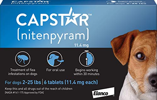 Capstar Fast-Acting Oral Flea Treatment for Small Dogs, 6 Doses, 57 mg (2-25 lbs)