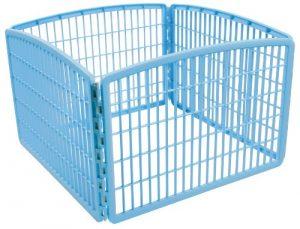 """IRIS 24"""" Exercise 4-Panel Pet Playpen without Door, Blue"""