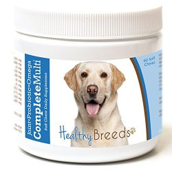 Healthy Breeds Complete Dog Multivitamin and Supplement Chews for Labrador Retriever, White – Over 200 Breeds – Joint Probiotic Omega 3 6 9 Vitamins – 60 Chews