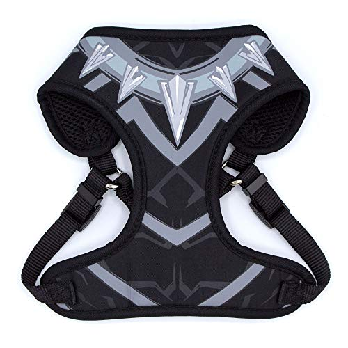 Marvel Comics Black Panther Harness for Dogs | Superhero Dog Harness | Large