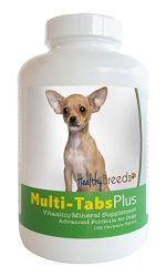 Healthy Breeds Dog Multi Tab and Mineral Supplement Chewable Tabs for Chihuahua – Over 80 Breeds – 180, 365 Chews – Formula for Young or Senior Pets – Easier Than Liquid, Powder