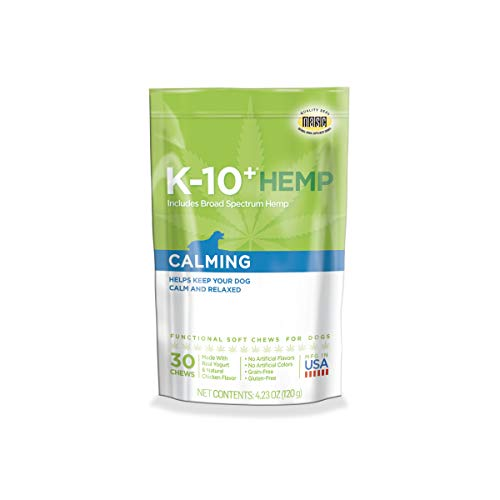 K-10+ Hemp Calming Daily Supplement for Dogs – 4.23 oz. Pouch