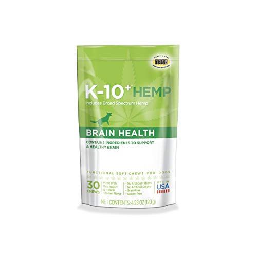 K-10+ Hemp Brain Health Daily Supplement for Dogs – 4.23 oz. Pouch