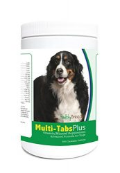 Healthy Breeds Dog Multivitamin and Mineral Supplement Chewable Tabs for Bernese Mountain Dog – Over 80 Breeds – 180, 365 Chews – Formula for Young or Senior Pets – Easier Than Liquid, Powder