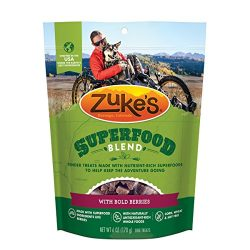 Zuke'S Superfood Blend With Bold Berries Dog Treats – 6 Oz. Pouch
