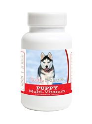 Healthy Breeds Puppy Multi Vitamin for Siberian Husky – Over 100 Breeds – Veterinarian Formulated Daily Dietary Supplement – Liver Flavored Treats – 60 Chews