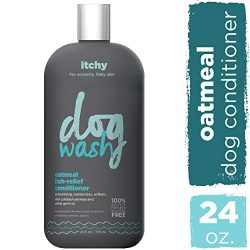 Dog Wash FGI06940 1 Synergylabs Oatmeal Itch-Relief Conditioner for Dogs – Moisturizing Dog Conditioner Detangles & Soothes Dogs' Dry, Itchy Skin – Heals Skin & Softens Coat (24 oz Bottle)