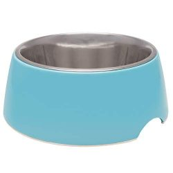 Loving Pets Retro Bowl for Dogs, Electric Blue, Small