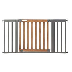 Summer Infant West End Safety Gate, 36″ – 60″ Wide & 30″ Tall, for Doorways & Stairways, with Auto-Close & Hold-Open, Honey Oak & Slate Grey, 36″- 60″ Wide