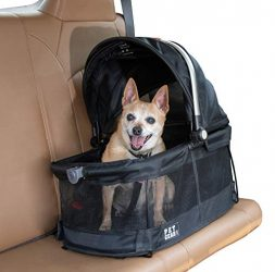 Pet Gear View 360 Pet Carrier & Car Seat for Small Dogs & Cats with Mesh Ventilation for Easy Viewing, Black – 360