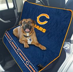 Pets First NFL CAR SEAT Cover – Chicago Bears Waterproof, Non-Slip Best Football Licensed PET SEAT Cover for Dogs & Cats.