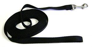Hamilton Nylon Dog Training Lead, 5/8-Inch by 30-Feet, Black