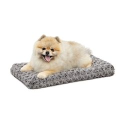 Plush Pet Bed | Ombré Swirl Dog Bed & Cat Bed | Gray 21L x 12W x 1.5H – Inches for XS Dog Breeds